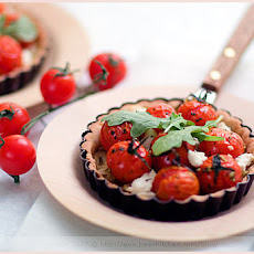 Fennel, Cherry Tomato Tartlets on Balsamic Crust