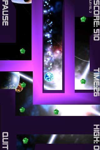 cosmic-roller-free for android screenshot