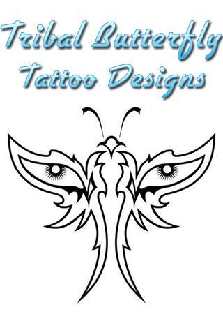 Tribal Butterfly Tattoo Design