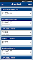 Screenshot of Amegy Mobile Banking