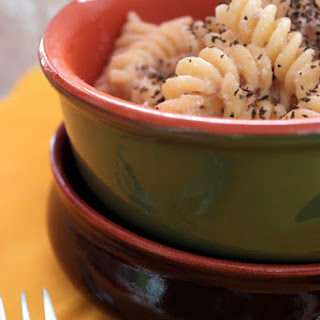 Fusilli Pasta with Ricotta Cheese and Sausage
