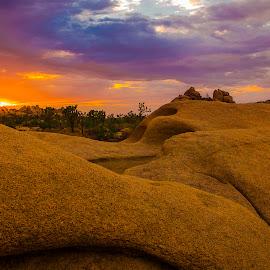 Sunset Hidden Valley by Patrick Flood - Landscapes Deserts ( canon, photosbyflood, national park, desert, sunset, california, joshua tree, hidden valley, twentynine palms )