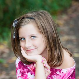 Smiles by Judy Deaver - Babies & Children Child Portraits ( portraiture, child, pink, photography )