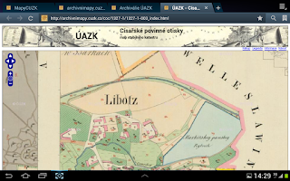 Screenshot of Mapy ČÚZK