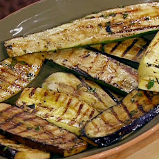Grilled Mixed Vegetables with Balsamic-Garlic Basting Sauce and Italian Herbs