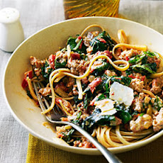 Spicy Sausage and Chard Pasta