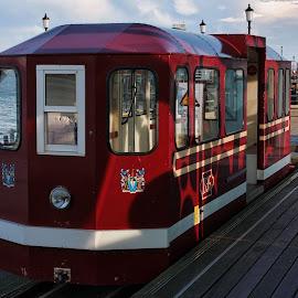 Pier train by Dean Thorpe - Transportation Trains