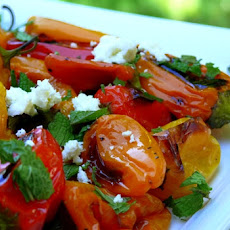 Baby Bell Peppers with Feta and Mint