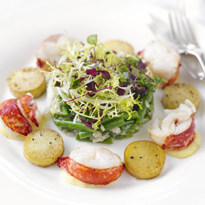 Warm Lobster & Potato Salad With Truffled Mayonnaise