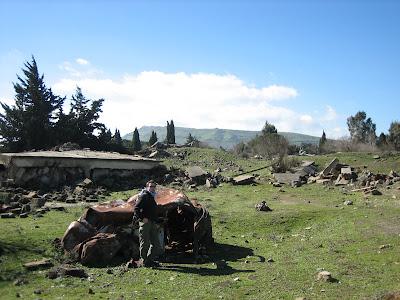 Demolka na Wzgórzach Golan