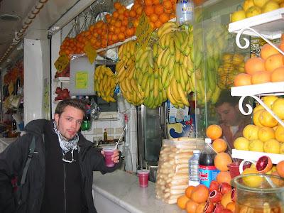 Juice stand - powszechny widok na Bliskim Wschodzie