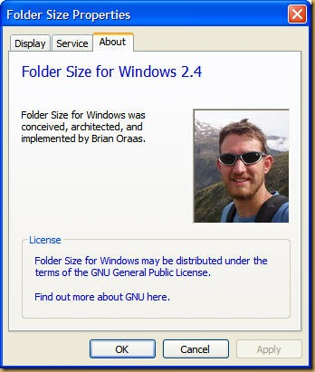about folder size