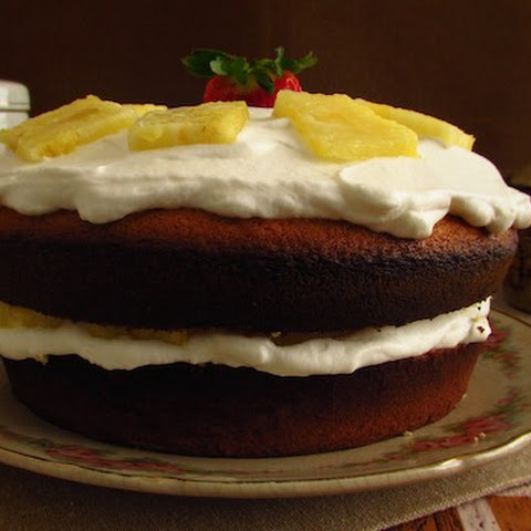 Sponge Cake Filled With Chantilly And Pineapple