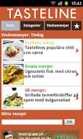 Screenshot of Tasteline Recept