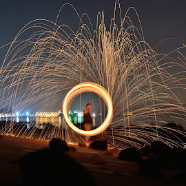 by Steven Hee - Abstract Light Painting ( firedance, fire, man )