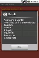 Screenshot of Muddled Words