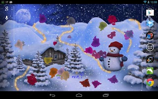 Screenshot of Winter Land Live Wallpaper Pro