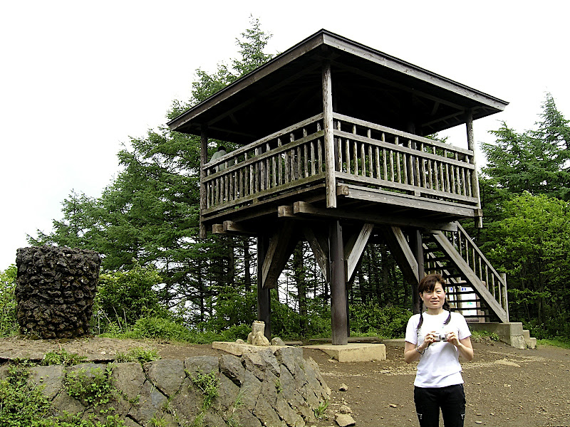 Aya before the Ashiwadayama lookout tower