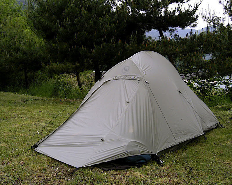 The Big Agnes Seedhouse SL2 tent at Saiko Lake 00