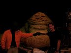 Jason touching Jabba's tummy!