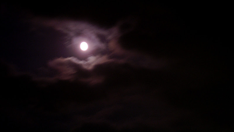 The moon watched over all fireworks proceedings