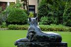 panther statue 01 in Shizen Kyoiku Park