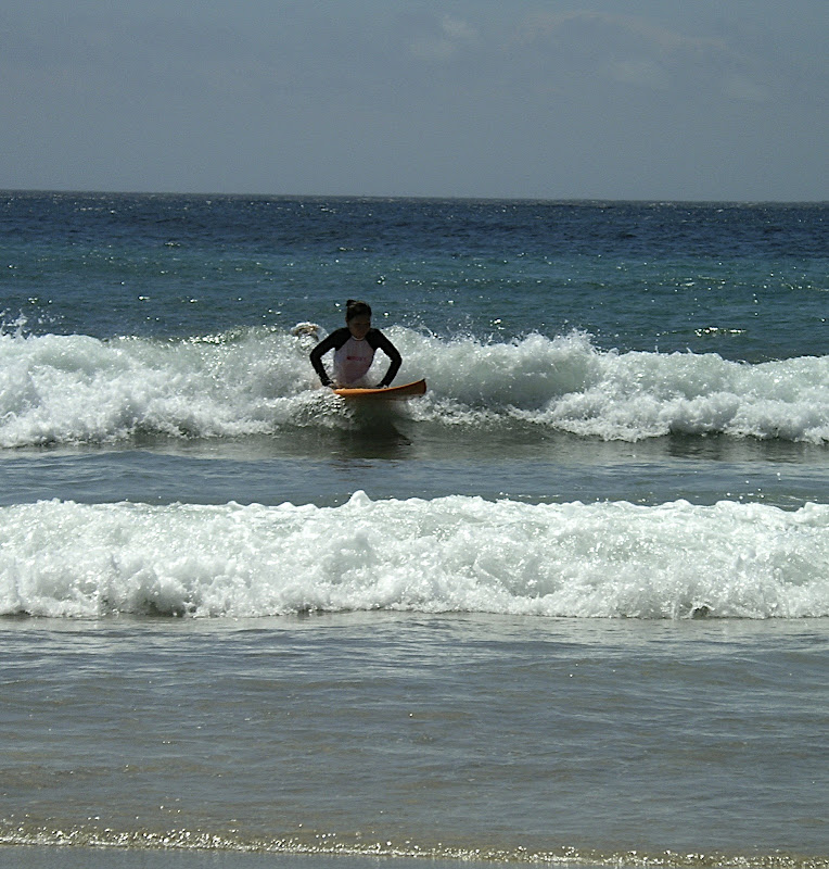 Aya surfing at Izu 10