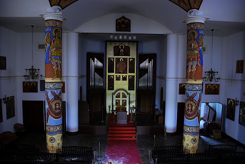 Inside the church, where you could have your actual wedding!