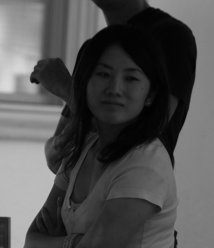 Hitomi in black and white