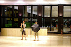 The Can and Scott swalled by the Shinjuku Mitsui Building lobby