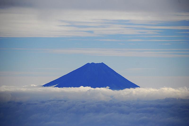 Mt. Fuji as seen from the summit of Akadake in October