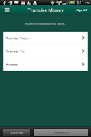 Screenshot of Guaranty Mobile Banking