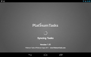 Screenshot of Platinum Tasks (To Do List)