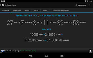 Screenshot of Age Calculator Birthday Facts