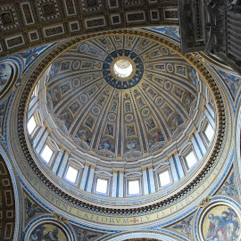 St. Peter's  Basilica-the Dome by David Gilchrist - Buildings & Architecture Places of Worship ( rome, st. peter's basilica, catholic religion )