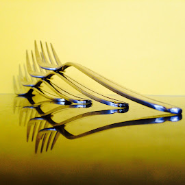 Forks by Janette Ho - Artistic Objects Cups, Plates & Utensils