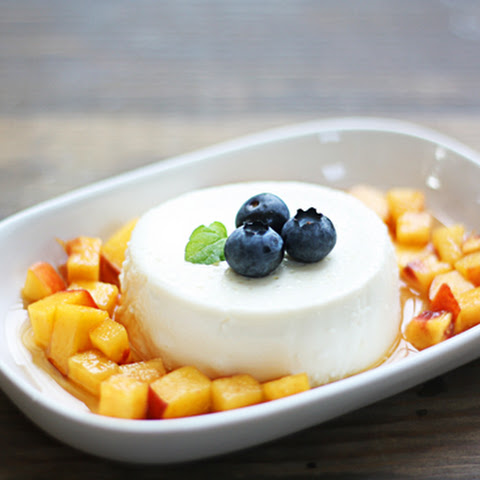 Panna Cotta with Summer Peaches & Grand Marnier