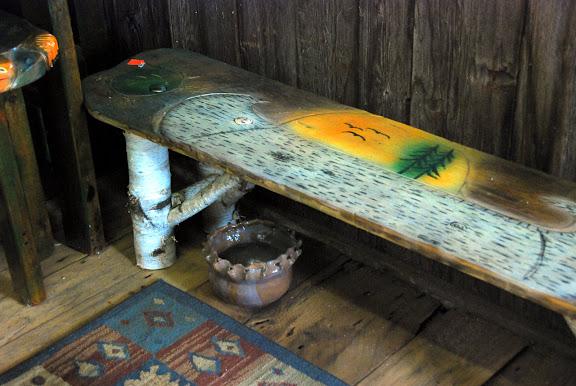 canoe bench