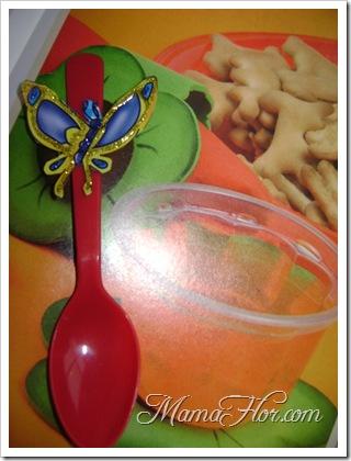 Cucharas decoradas para buffet de fiesta infantil