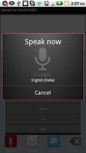 Speak to Email SMS