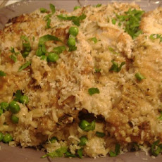 Pork Chops over Parmesan Rice With Peas