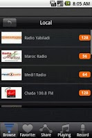 Screenshot of Radio Morocco