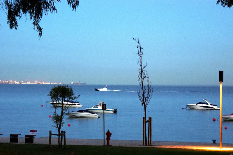 Barcos no parque Urbano d Albarquel