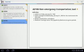 Screenshot of HCPCS Lite 2011
