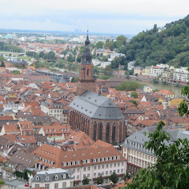 Heidelberg, Germany by Lori Rider - City,  Street & Park  Vistas ( church, heidelberg, vista, view, historic )