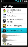 Screenshot of Darth Vader Widget