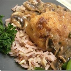 Chicken in a Port, Mushroom and Tarragon Sauce