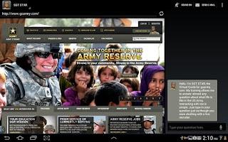 Screenshot of SGT STAR: Army's Virtual Guide