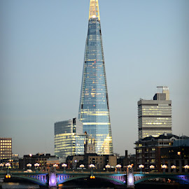 Shard by Melanie Pista - City,  Street & Park  Skylines ( lights, water, shard, london, night, river )