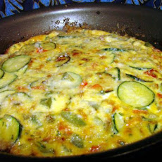 Bell Pepper and Zucchini Frittata